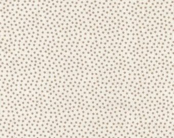 Ivory corduroy and taupe dots