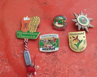 1 collectible pin, hiking, ski,souvenir from Austria, Tyrol, Osterreich, Piesentorf, Luftkurot, Neustift, mountaineering, alpinism, mountain