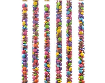 25x Novelty Sweet Tubes with Cork Lids Empty Fillable