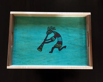 Wood Serving Tray - Kokopelli