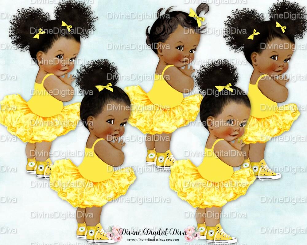 Princess Ballerina Yellow Tutu Sneakers Vintage Baby
