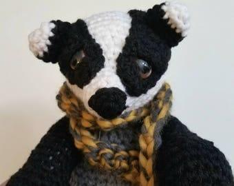 Hufflepuff Badger - Crocheted Badger