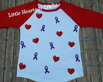 CHD Heart Warrior shirt, chd ribbon, chd sibling shirt, heart defect awareness, CHD brother, CHD sister, chd awareness