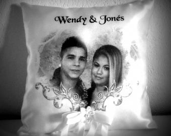 ring bearer pillow personalized with photo