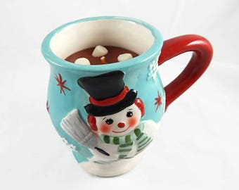 READY TO SHIP - Jumbo Hot Chocolate & Marshmallow Snowman Mug Candle