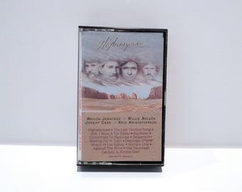 Willie Nelson Cassette Tape Highwayman Vintage 1985 Johnny Cash Waylon Jennings Kris Kristofferson Last Cowboy Song Country & Western Music
