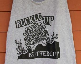 "JEEP ""Buckle up Buttercup"" Tribal Tattoo LADIES Racerback Tank (S-XL)"