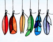 CUSTOM ORDER for Munna C - Mini Stained Glass Feathers