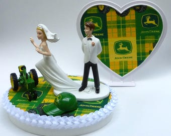 john deere tractor wedding cake toppers wedding cake topper officer themed w bridal garter 16602
