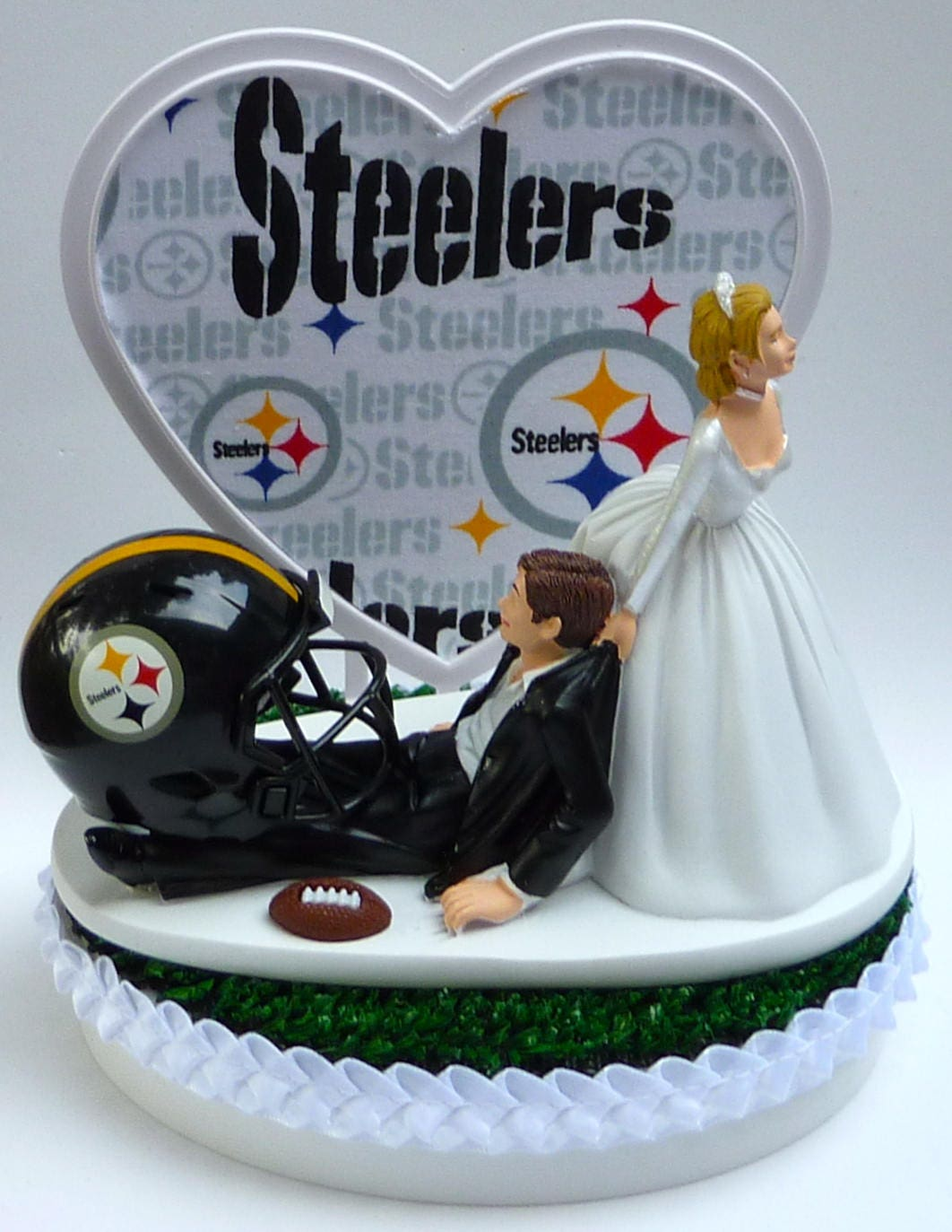 wedding cake toppers pittsburgh pa wedding cake topper pittsburgh steelers football themed w 26582