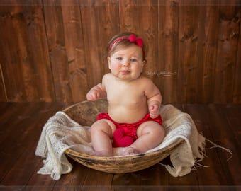 Sitter Prop Tieback/ Tieback Girl Photo Prop/ Tieback and Mini Posing Heart Set/ Sitter Photography Prop Set/ Cream Photo Prop Tieback