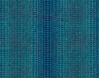 "Maharam Wool Striae - AQUA - pillow (both sides) 17"" x 17"" feather insert included"