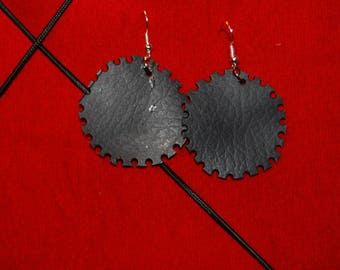 Sphere in inner tube earrings