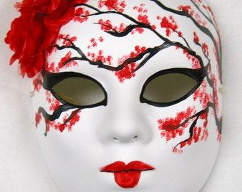 Red Sakura Masquerade Mask VA-2079