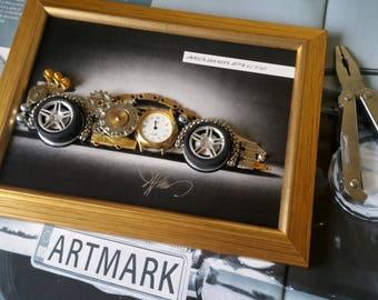 McLaren P1 GTR Code M 133, Car decor, Vintage car, Steampunk art, Clocks, Gifts for men, Wedding gifts, T-shirt Car Design, Best car art