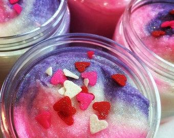 Black Raspberry Vanilla Body Scrub - Coconut oil sugar scrub