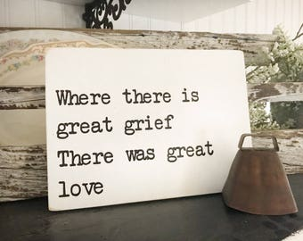 Great Love Hand Painted Sign