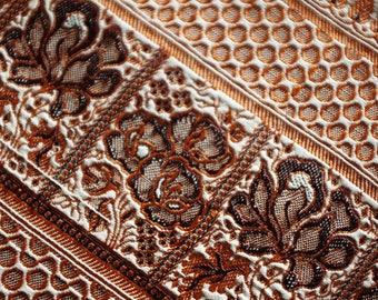 Pure silk embroidered Indian Sari 110 cm x 50 cm