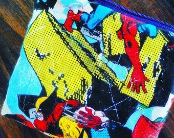 comic print cotton coin purse 12cm