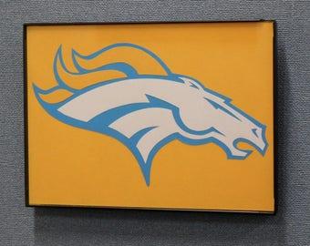 Denver Broncos Wall Art Hand Made