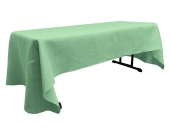 "Colored  Burlap Tablecloth 60"" X 120"". Made in the USA"