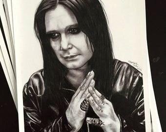 Ozzy Osbourne II - Signed Print
