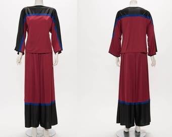 bill tice top & culottes set vintage 1970s • Revival Vintage Boutique
