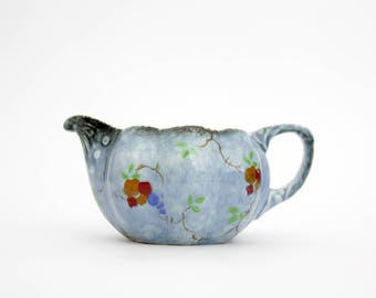 Vintage Ditmar Urbach Creamer // Blue Floral Hand Painted Creamer