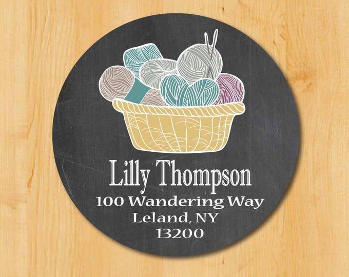 Knitting Address Label | Knitter Address Label  | Gift Idea Knitter | Yarn Lover | Gift for Yarn Lover | Yarn Sticker | Yarn Label | Sticker