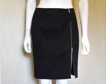25% off SALE Black zipper skirt
