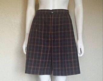 25% off SALE Plaid high waist shorts