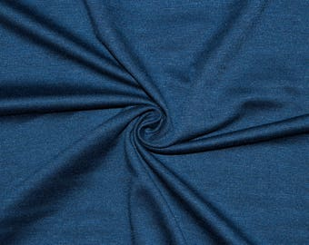 """Navy Ponte Di Roma Double Knit Polyester Spandex Lycra Stretch Medium Weight Apparel Craft Fabric 58""""-60"""" Wide By The Yard"""
