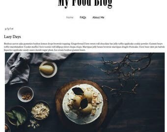 ON SALE SALE - Responsive Premade Blogger Template - My Food Blog - Instant Download