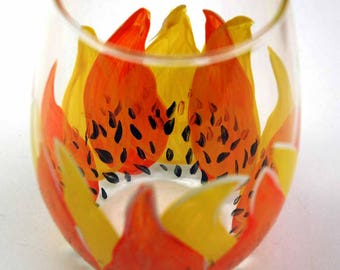 Sunflower Stemless Wine Glass