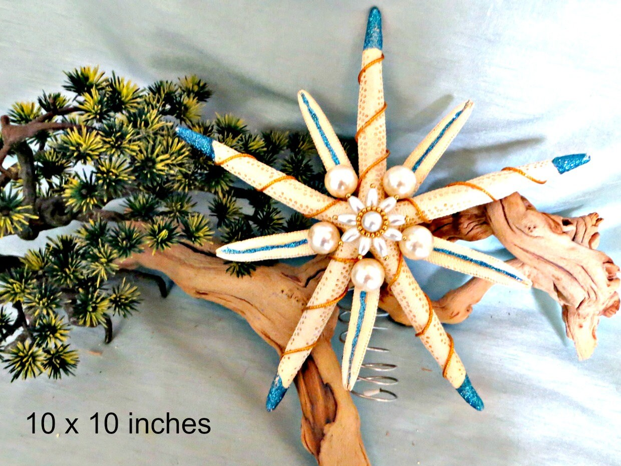 Coastal Christmas Tree Topper_star Fish Tree Topper_beach