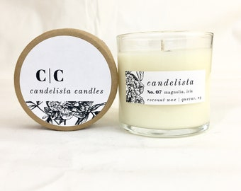 5 oz Glass Container  / Coconut Wax Candle