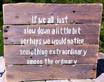 Inspirational wall hanging upcycled pallet wood