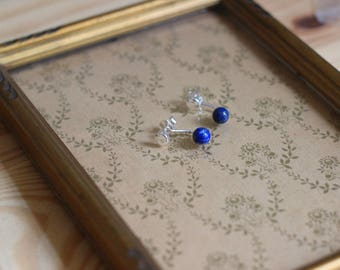 Gold 925 sterling silver, gemstones earrings