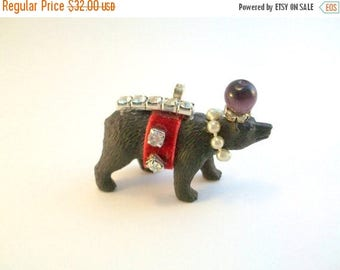 CLEARANCE Fancy Animal Necklace, Party Animal Necklace, Circus Animal Necklace, Brown Bear Necklace, Animal Necklace, Animal Jewelry, Bear,
