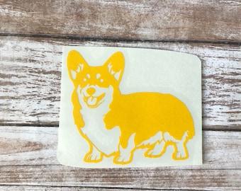 Corgi Dog Animal Vinyl Decal Car Laptop Wine Glass Sticker