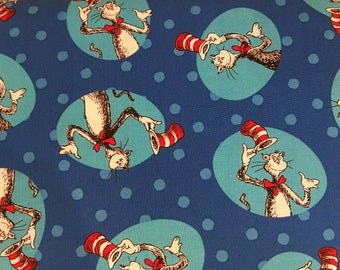 Dr. Seuss fabric - The Cat In The Hat fabric by Robert Kaufman fabric #17112