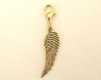 Gold angel wing charm