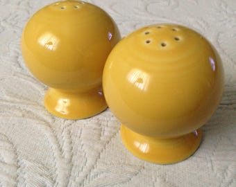 Fiestaware Vintage Yellow Salt and Pepper Shakers