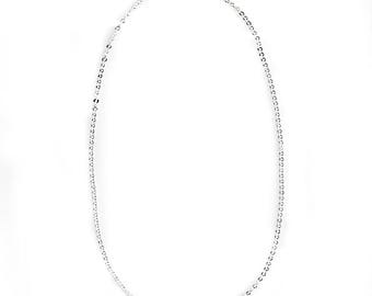 """Silver Necklace - Cable Chain necklace - Simple Necklace - Charm Necklace - Gift For Her - Layered Necklace - Perfect Gift - 16-30"""""""