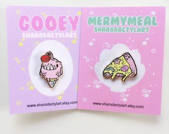 Sharodactyl Pick One: Mermy Meal Enamel Pins 2