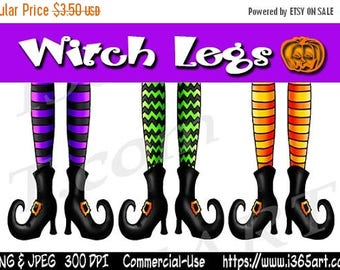 50% OFF Witch Clipart, Witch Clip art, Witch Legs Clipart, Halloween Clipart, Halloween Clip art, Digital, Party Invitations, Scrapbooking,