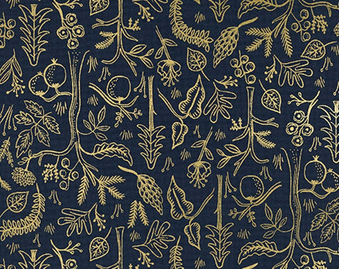 PRESALE: Black Forest - Navy METALLIC by Rifle Paper Co. for Cotton + Steel