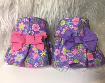 Female Dog Diapers / dog pantie / britches / Waterproof / Purple floral print