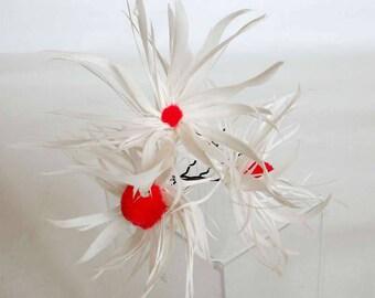 Woodpecker feather hair pin, hair accessories, hairpins, Haarnadeln hair