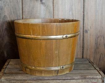 Vintage Antique Wood Sap Bucket Home decor, vintage wood bucket, newborn bucket, bucket, vintage wood bucket, newborn photography prop